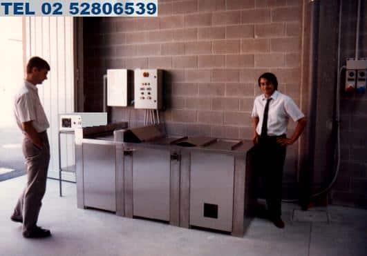 impianto per pulizia, lavaggio e protezione degli stampi